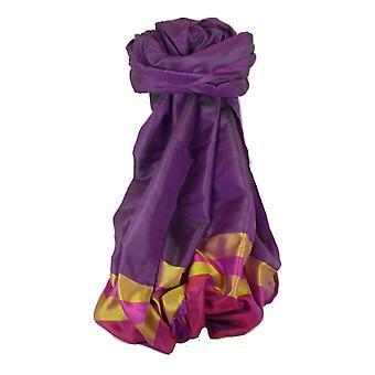 Varanasi Border Prime Silk Long Scarf Heritage Sandeep 314 by Pashmina & Silk