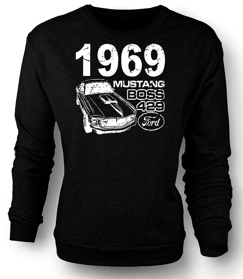 Mens Sweatshirt 1969 Mustang Boss 429 - Classic US Car