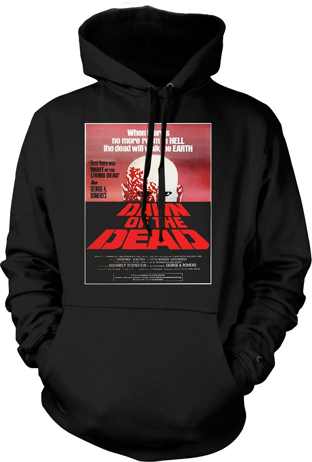 Mens Hoodie - Dawn Of The Dead Romero - Poster