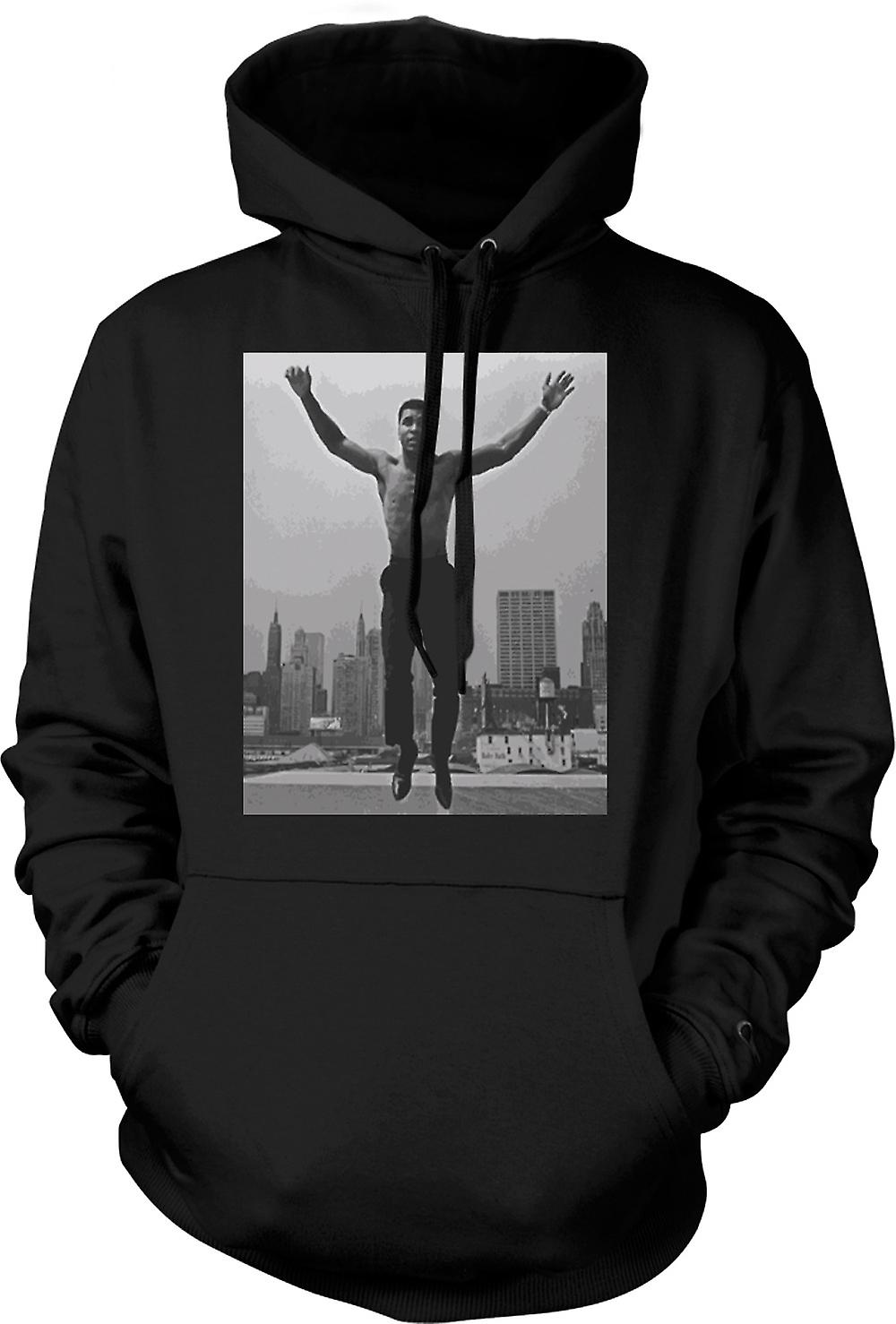 Mens Hoodie - Ali Jumping Shirt Off