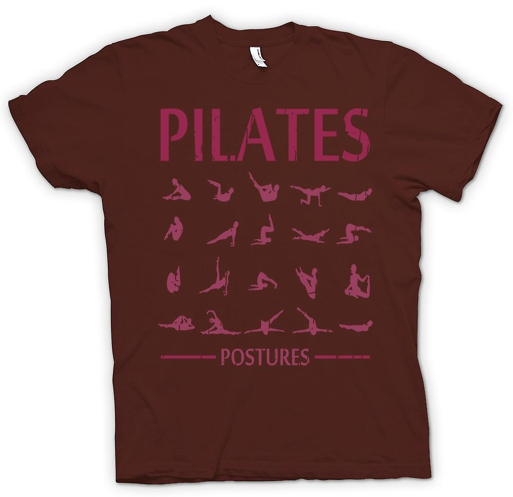 Mens T-shirt - Pilates Postures - Core Fitness