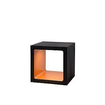 Lucide Xio Modern Square Metal Black Table Lamp