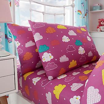 Einhorn Märchen Mädchen Kinder einzelne Decke Quilt Cover Kinder Bettwäsche-Set
