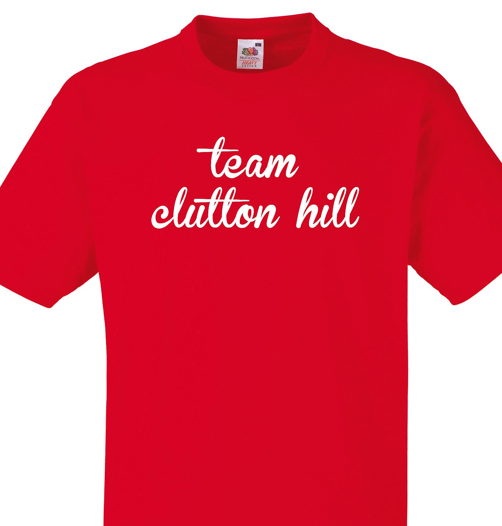 Team Clutton hill Red T shirt