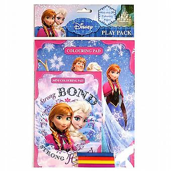 Party Bag Filler Disney Frozen Colouring Play 2 Pads Colouring Pencils Pack of 5 (FNPPK)