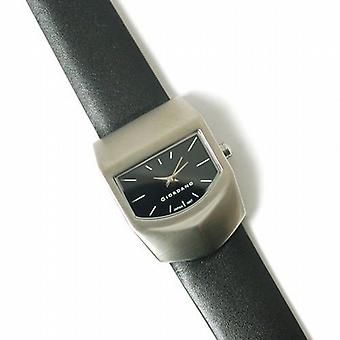 Giordano Black Leather Strap Unisex Fashion Watch 1067-1