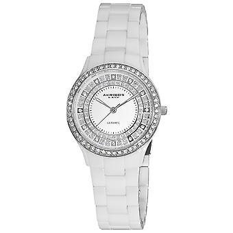 Akribos XXIV Women's Quartz Matte Dial Bracelet Watch AK509WT