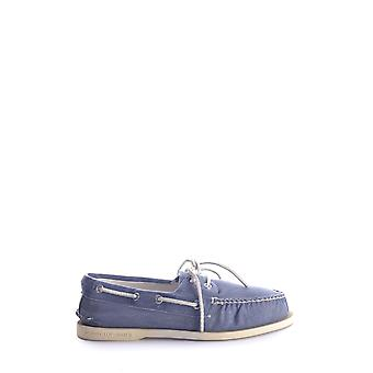 Sperry Blue Fabric Loafers
