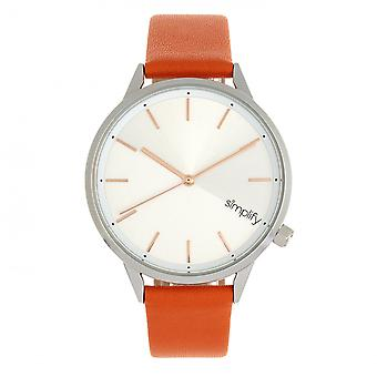 Simplify The 6700 Series Watch - Orange/Silver