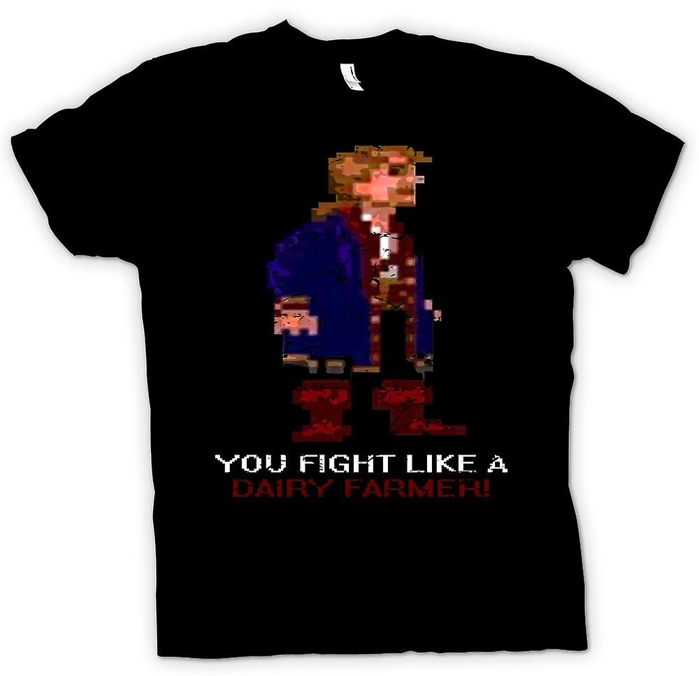 Kids T-shirt - You Fight Like A Dairy Farmer - Monkey Island Inspired