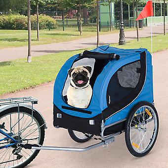 PawHut Pet Trailer Fold Bike Dog  Bicycle Stroller Double Wheel Removable Cover