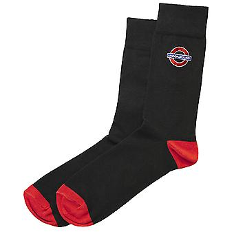 Tfl™6306 ladies licensed underground roundel™ embroidery sock size 4-7