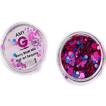 The Edge Nails Amy G - Sweet Nail Art Sequins - Berry Blast 1.5g (3003062)