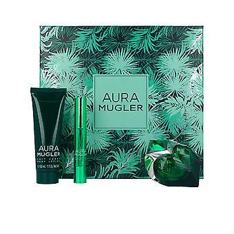 Thierry Mugler Aura Gift Set 30ml EDP Refillable + 50ml Body Lotion + Perfume Pen