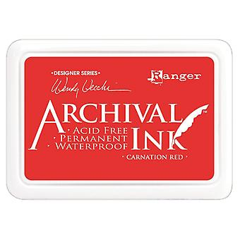Wendy Vecchi Designer Series Archival Ink Pad Carnation Red Aid 41399