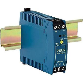 Rail mounted PSU (DIN) PULS MiniLine ML15.051 5 Vdc 3 A 15 W 1 x