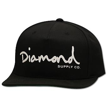 Diamond Supply Co OG Script Snapback Black White