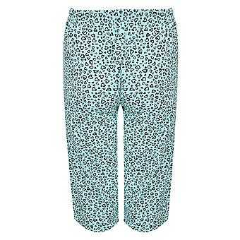 Mint Green & Black Heart Print Cropped Pyjama Bottoms