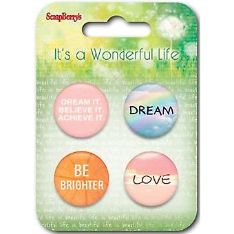 ScrapBerry's It's A Wonderful Life Embellishments-#1 SCB1055