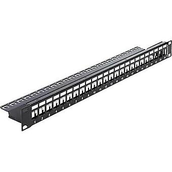 24 ports Network patch panel Delock 43277 Unequipped 1 U