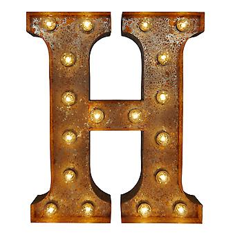 Large Vintage Letter Lights - H