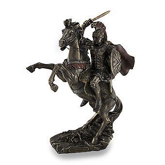 Alexander the Great Riding Bucephalus Bronzed Sculptural Statue