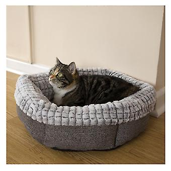 40 Winks Tweed And Plush Bed 48cm (19