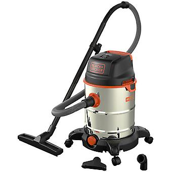 Black and Decker Bxvc30xde-vacuum cleaner with tank 30 ltr.1600w stainless steel