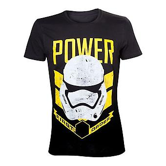 Star Wars Force Awakens Mens First Order Power T-Shirt S Black  TS204399STW-S