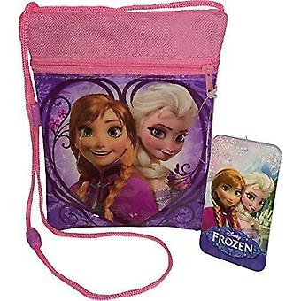 Officiellt licensierade | DISNEY FROZEN | Mini säckpass med Zip | Anna Elsa axelväska