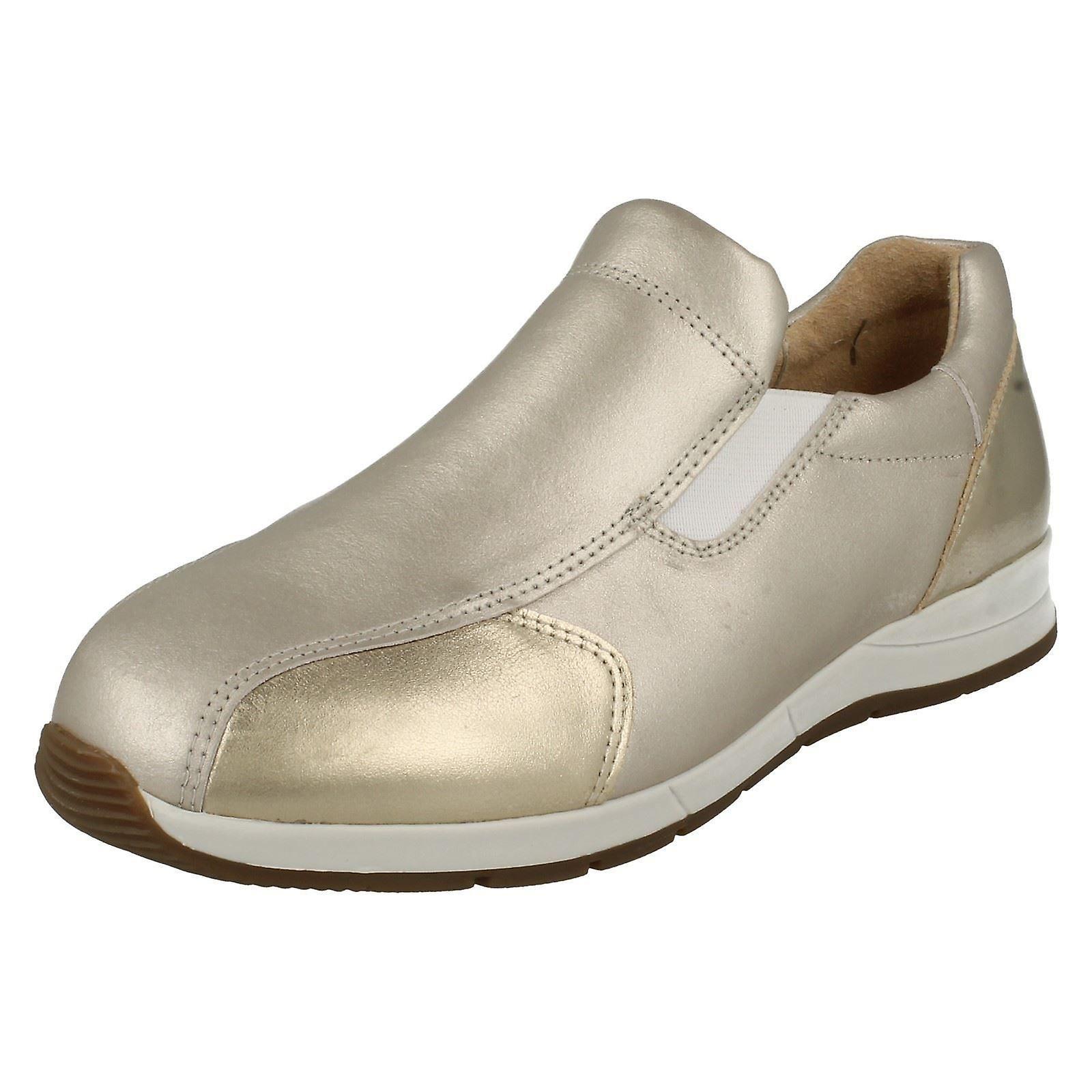 Damen einfach B Breite passend lässige Slip On Schuhe Cleo