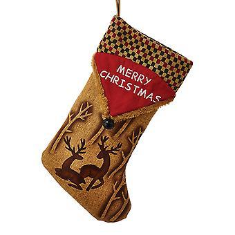 Woodland Deer Lodge Design glædelig jul ferie strømpe