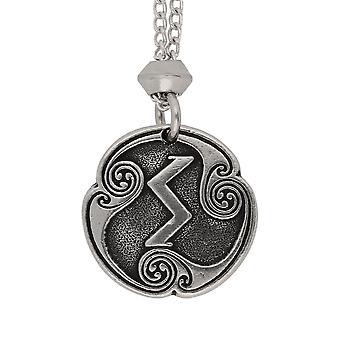Handmade Norse Viking Sigel Sowilo Rune of the Sun Pewter Pendant