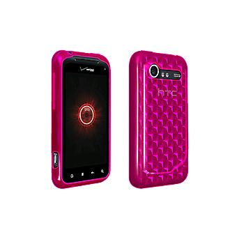 OEM Verizon High Gloss Silicone Case for HTC DROID Incredible 2 6350 (Pink) (Bul
