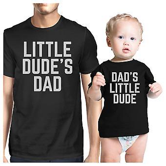 Weinig Dude zwart Matching grafische T-Shirts voor vader en Baby Boy