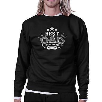 Best Dad In The World Unisex Black Vintage Style Sweatshirt For Dad