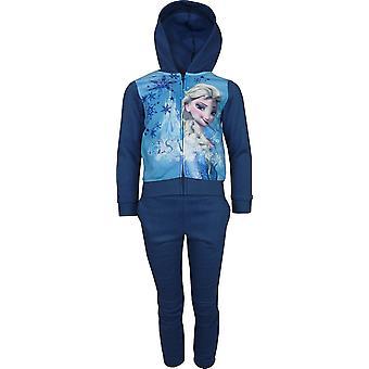 Girls Disney Frozen Elsa & Anna Fleece Full Zip Hooded Sweatshirt PH1013