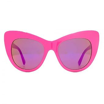 Stella McCartney Falabella Oversize Cateye Sunglasses In Bright Pink