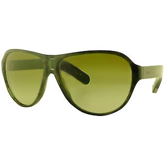 Chanel Stylised Blue Camo Aviator Sunglasses With Green Gradient Lenses