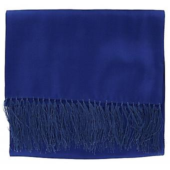 Michelsons of London Wide Textured Silk Dress Scarf - Royal Blue