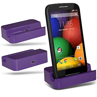 ONX3 Nokia Lumia 930 Micro USB Charging Dock Cradle Desktop Charger Station-Purple