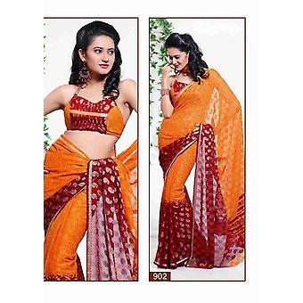 Bhumika Georgette India Sari sari tela Bellydance