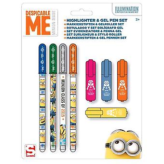Import In September and Markers Gel pens Minions (Toys , School Zone , Drawing And Color)
