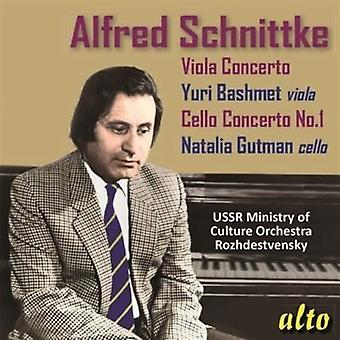 Yuri Bashmet Natalia Gutman Ussr Minis - Schnittke: Concertos for Viola & Cello [CD] USA import