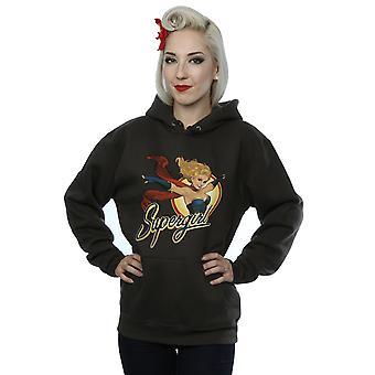 DC Comics Women's Bombshells Supergirl Badge Hoodie
