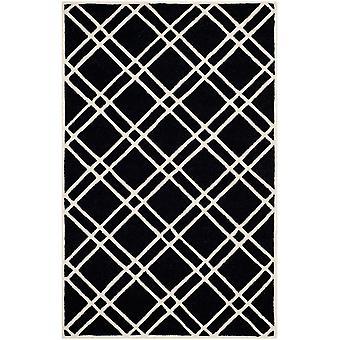 Mati sort geometriske uld tæppe - Safavieh