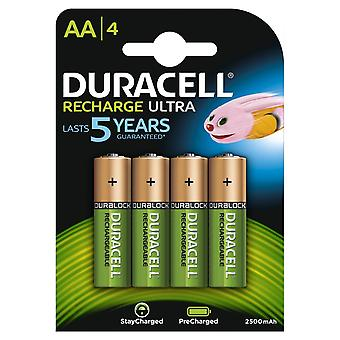Duracell HR06-P 2500mAh Pre-charged AA (4 Pack)