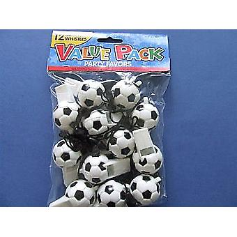 SALE -  12 Football Whistles Party Bag Fillers for Children