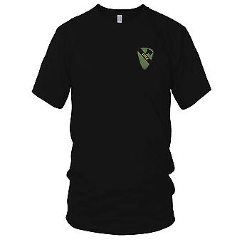 US Army Infantry 1st Cavalry - DMZ Subdued Military Insignia Vietnam War Embroidered Patch - Mens T Shirt