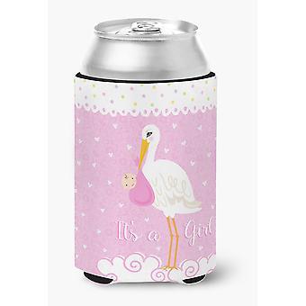 Carolines Treasures  VHA3013CC It's a Baby Girl Can or Bottle Hugger